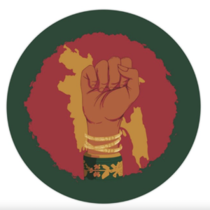 "Bengali Empowerment Matte Sticker (3""x3"")"