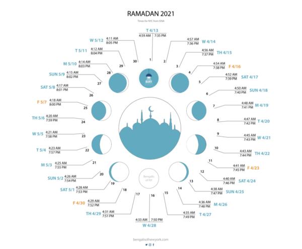 ramadan 2021 Calendar NYC